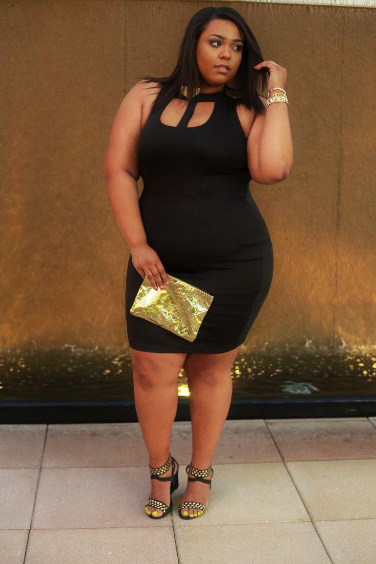 Nicole Wearing Ftfs Asher Cutout Dress Plus Size Fashion