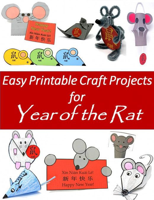 Craft Templates to Print for Year of the Rat