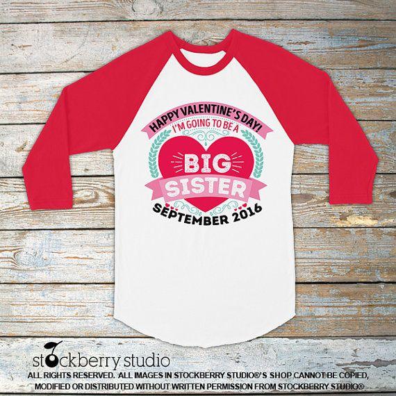 bd88f071 Valentines Day Pregnancy Announcement Shirt - Big Sister Shirt by  stockberryapparel