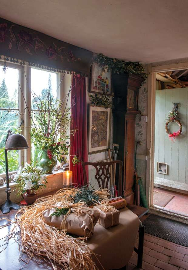 Christmas Decor In A Rustic 18th Century English Cottage