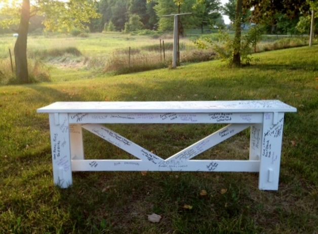 Guest sign in bench wedding bench guestbook do it yourself guest sign in bench solutioingenieria Choice Image