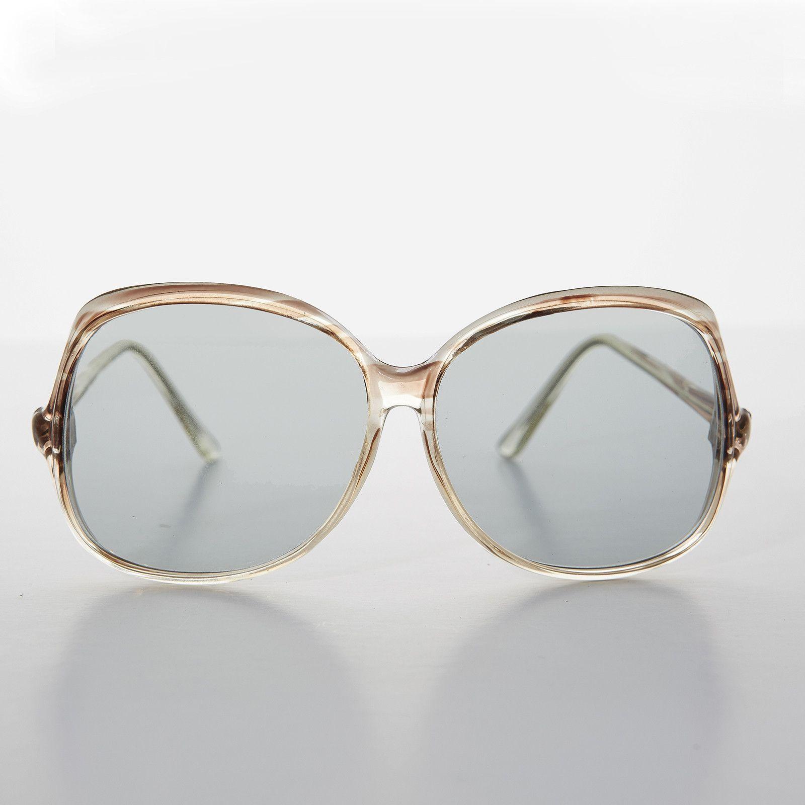 0480a53212 Jackie O Bohemian Oversized Vintage Sunglass with Transition Lens NOS  -OLIVIA