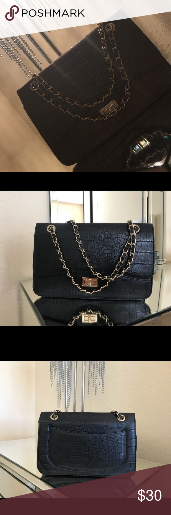 Brand New Omar Sharif Paris Purse Handbag Gorgeous Dress It Up For A Night Out Is Down With Jeans And Nice Top