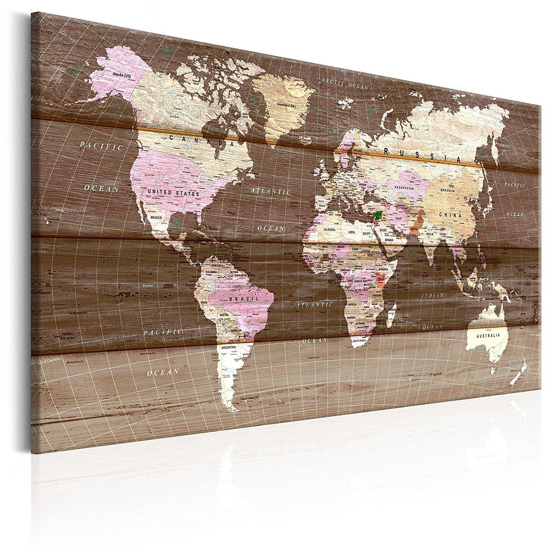 nouveaute tableau liege avec un vrai ch ssis bois 60x40 cm tableau en liege carte du monde. Black Bedroom Furniture Sets. Home Design Ideas
