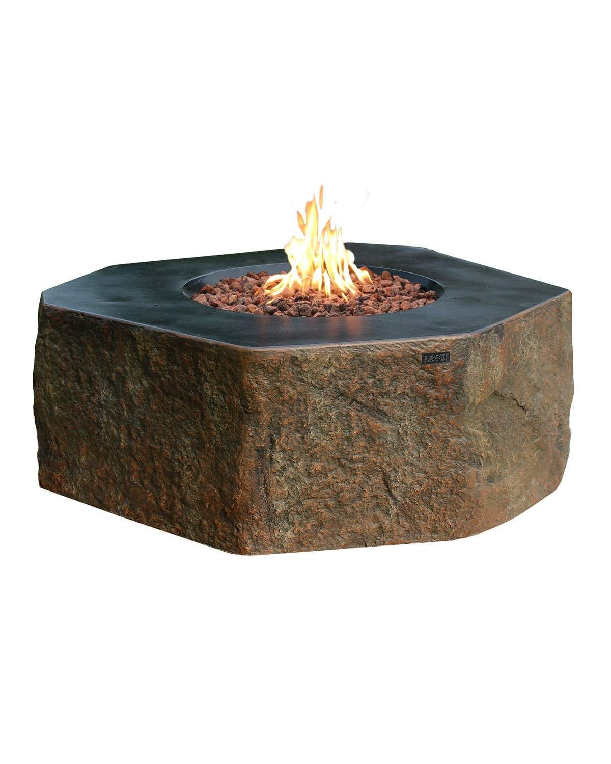 Ocean rock columbia outdoor fire table with natural gas assembly