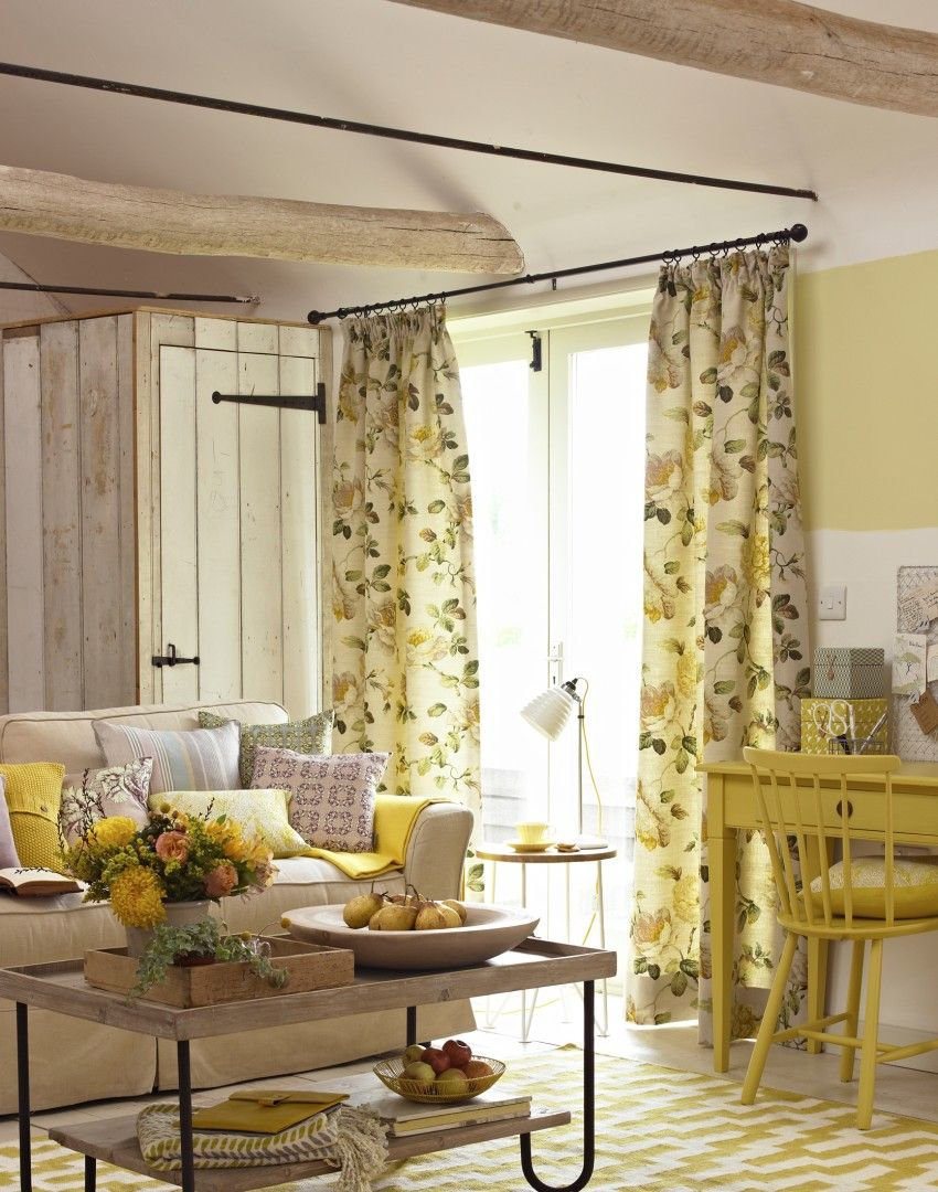Spring Is The Perfect Time To Experiment With Bright Tones. This Stunning  Yellow Country Living Room Reminds Us Of Sunny Days Out In The Garden. Part 36