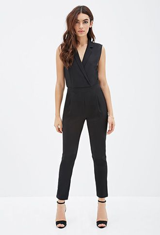 dfb59e89f3df Collared Surplice Jumpsuit