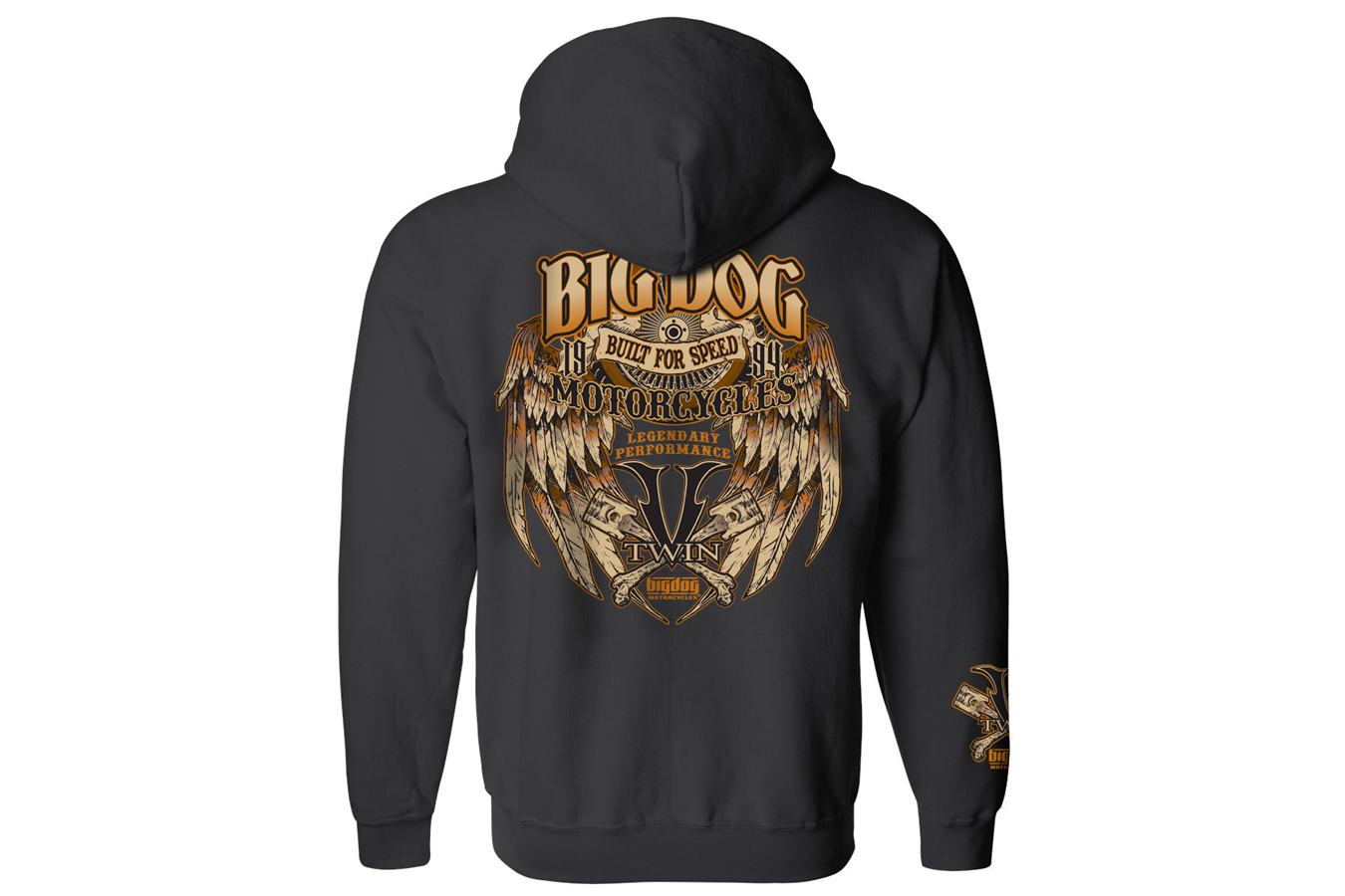 small resolution of big dog motorcycles built for speed full zip hoodie black 54 95 58 95