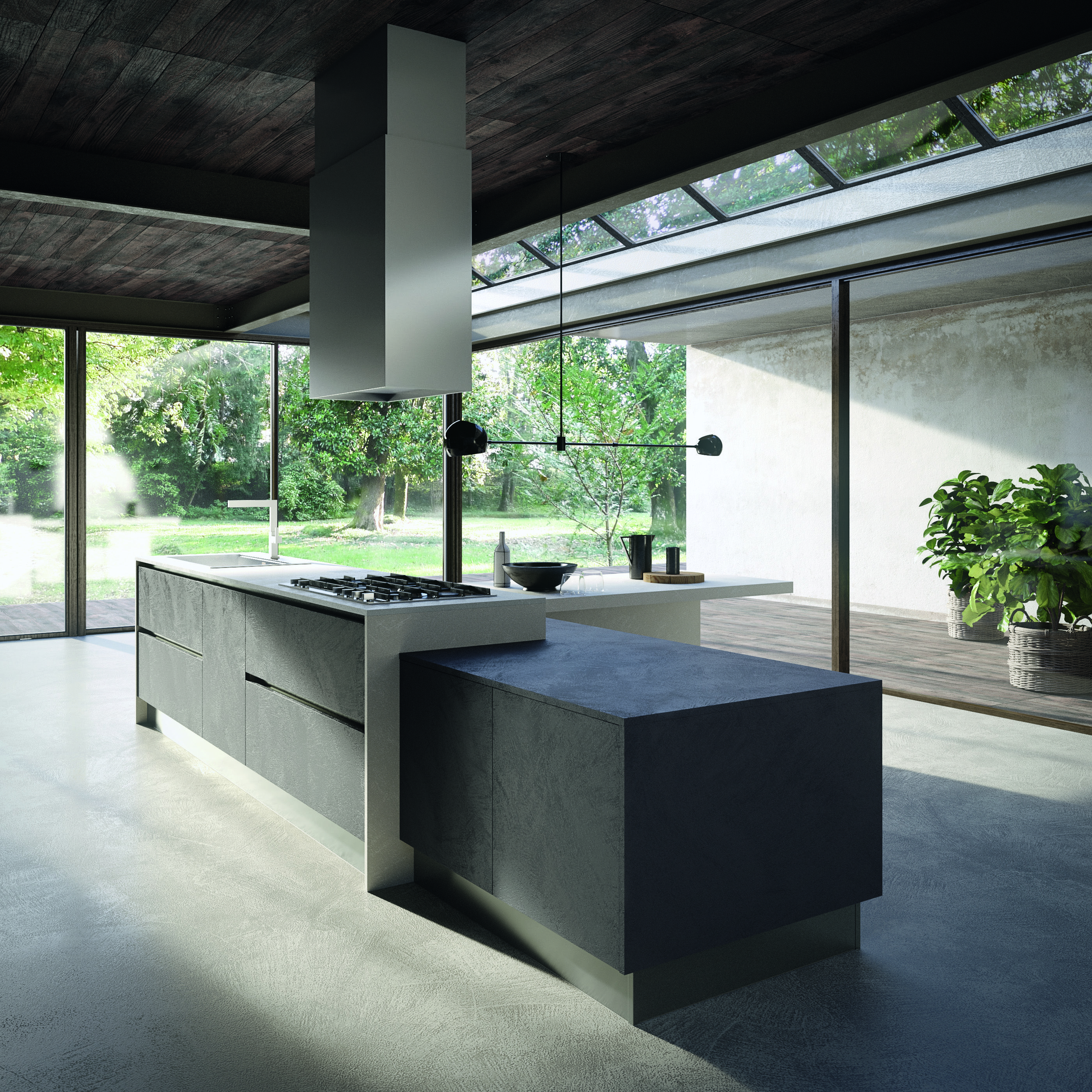 Eko gloss lacquers and woods idee per la cucina for Cucine moderne scure