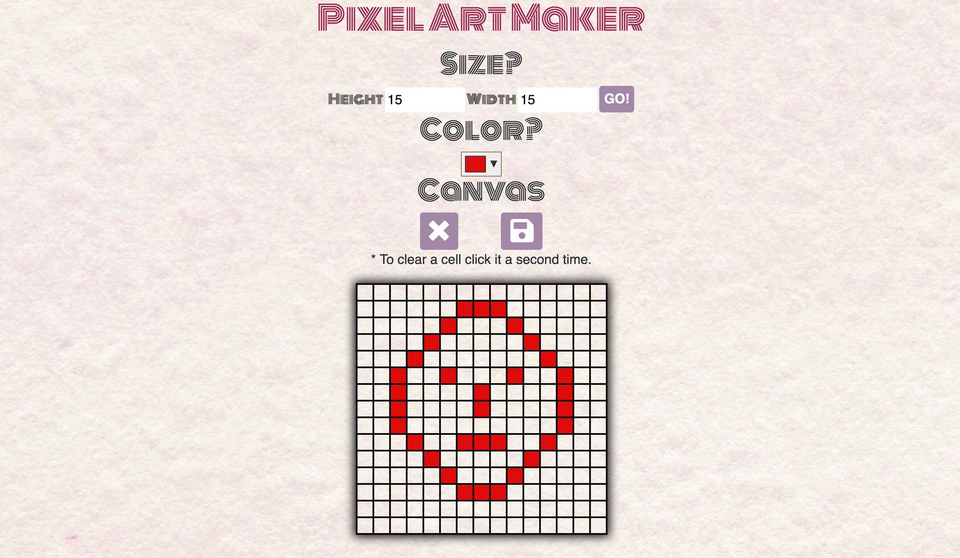 Pixel Art Maker Create fun art using just pixels with