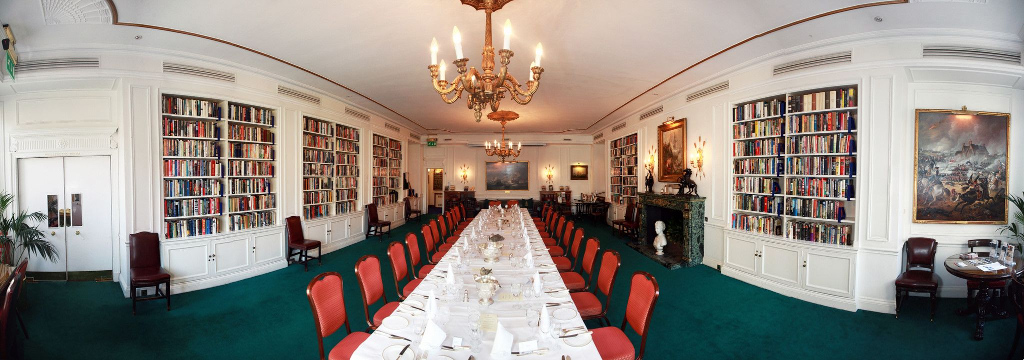 I Covered A Lunch For The Field Sports Club At The Exclusive Rag Club (Army  And Navy) In Pall Mall. This Panoramic Shot Of Their Library Is Made Up Of  8 ...