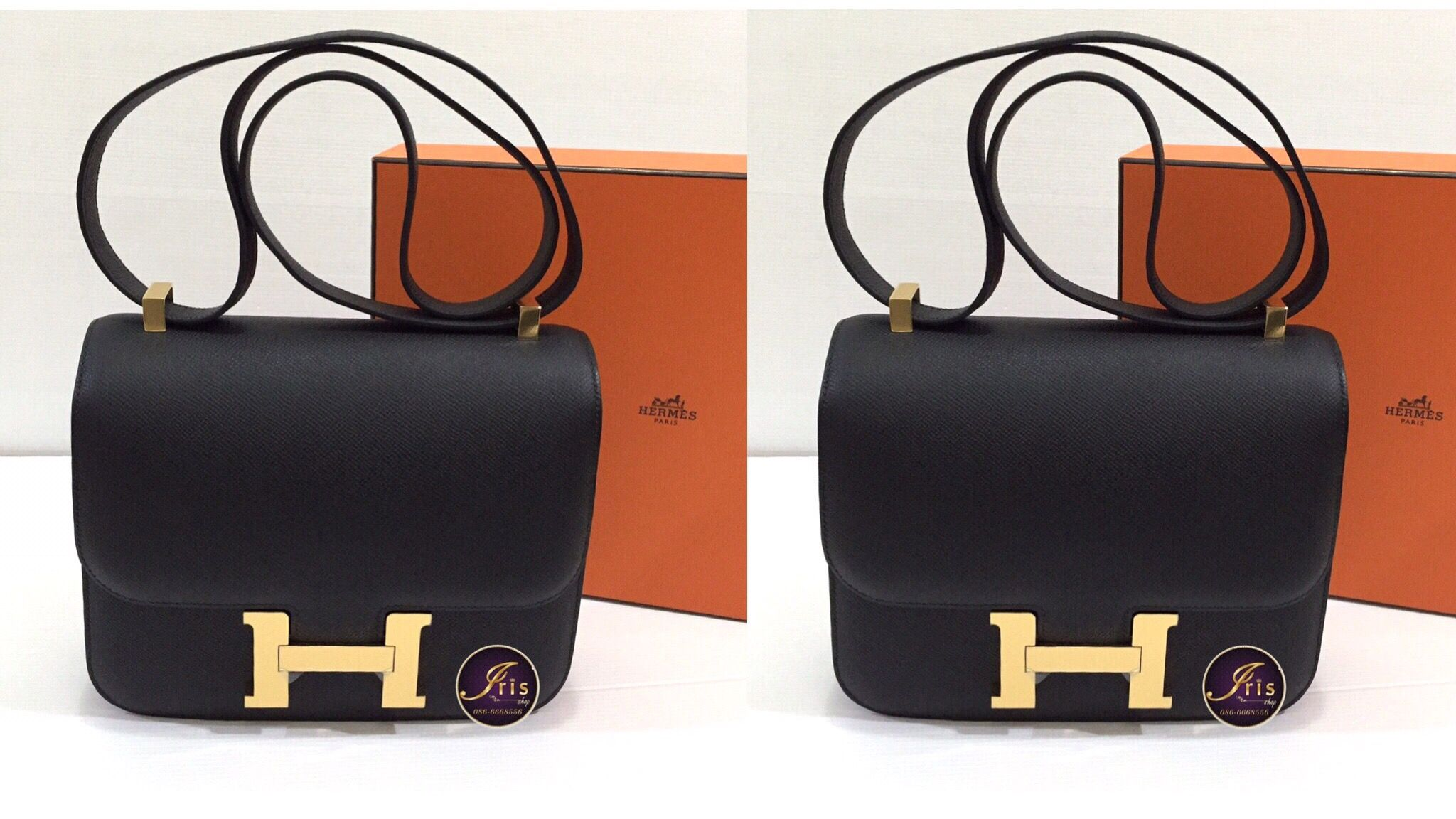 57ed56fcc058 ... closeout hermes constance 24 black epsom ghw stamp x u203c bfceb 00420