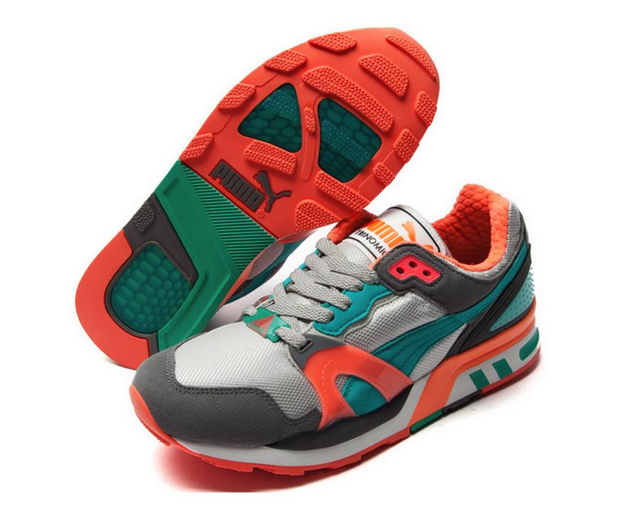 1019ce04b4a puma trinomic xt2 shoes  puma trinomic xt 2 plus grey green orange 35586816  195.00