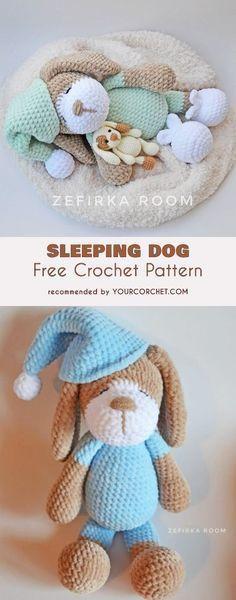 Sleeping Dog Amigurumi Free Crochet Pattern Diy Crochet Amigurumi Crochet Animal Patterns Crochet Toys Patterns