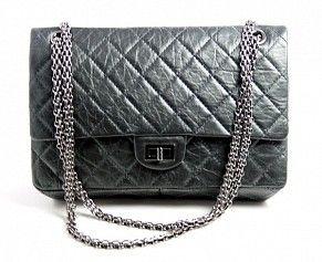1ff16971 Chanel 2.55 Charcoal Grey   Bag Lady in 2019   Chanel, Chanel ...