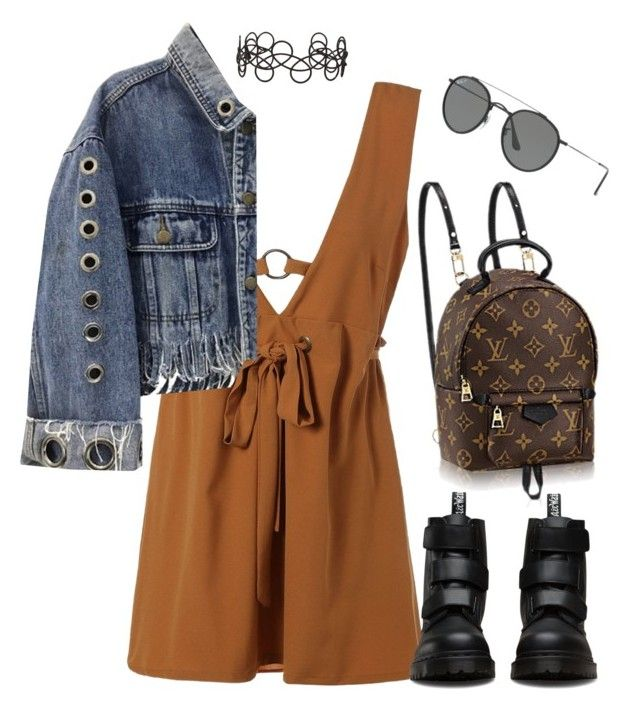 """""""Untitled #833"""" by minhie-inspiration ❤ liked on Polyvore featuring Dr. Martens, Ray-Ban and Acne Studios"""