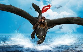 Hiccup and Toothless in How To Train Your Dragon
