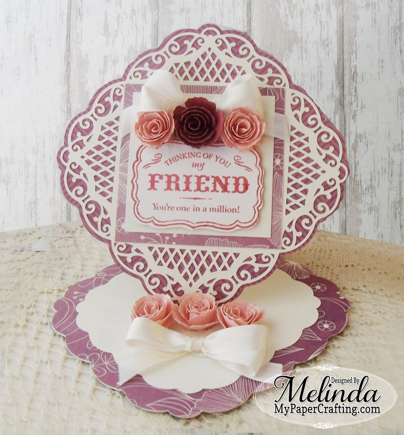 Flourished Easel Card - Scrapbook.com
