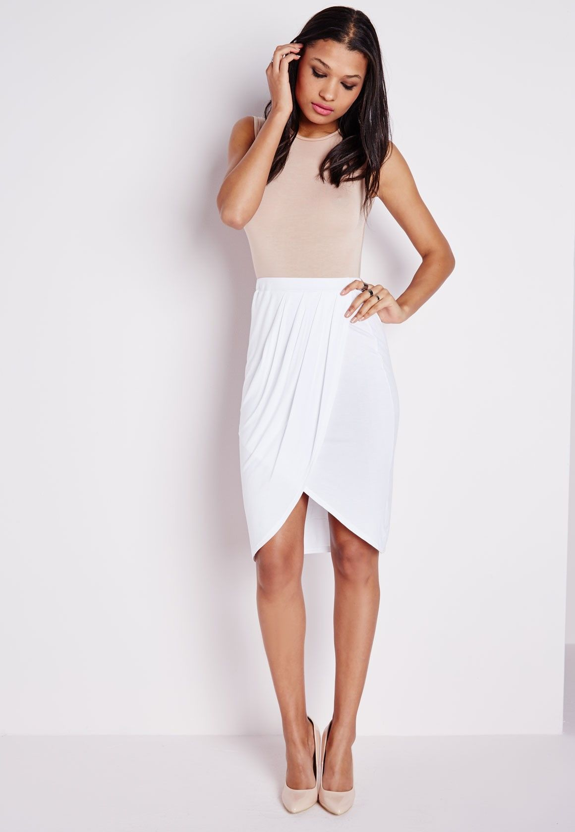 White Wrap Skirt 2 | Dresscab | Wrap Skirt | Pinterest | 2!, Wraps ...