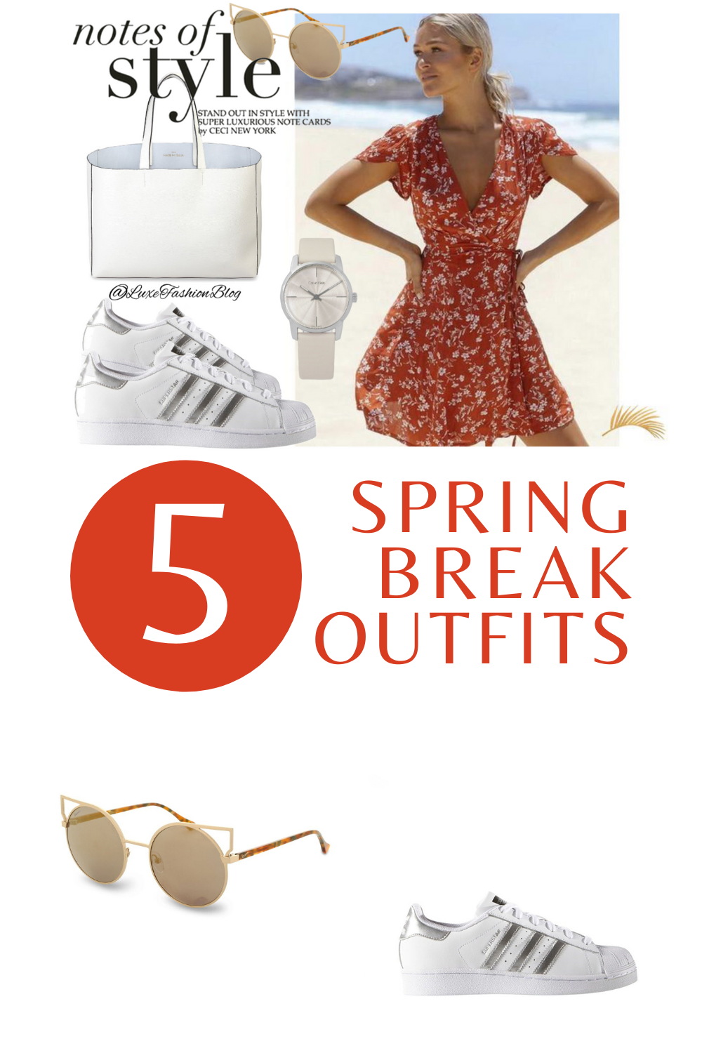 5 Spring Break Outfits & Accessories You Totally Need | Spring Break Outfit Ideas | Red Dress