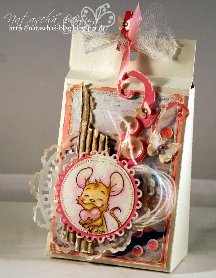 Goody Bag usind Henry rubber stamp by Whiff of Joy and digital papers by Bearly Mine Designs