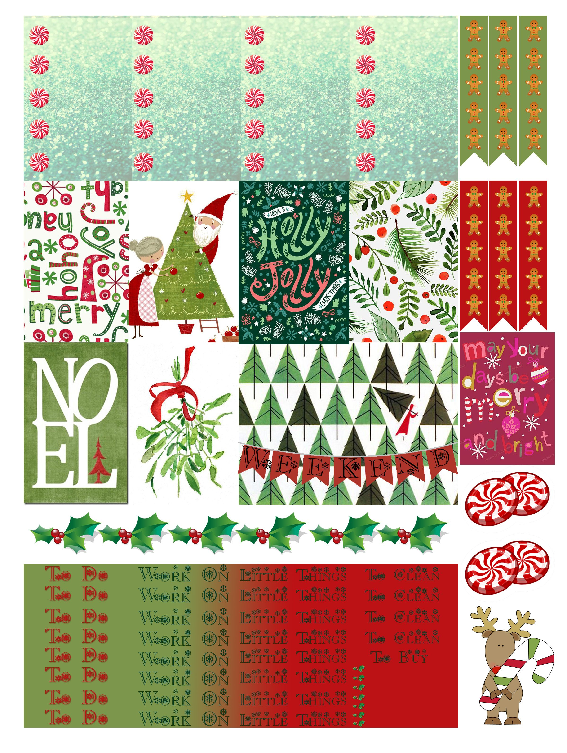 photograph regarding Printable Christmas Stickers identified as No cost Printable Xmas Planners Stickers in opposition to Monica