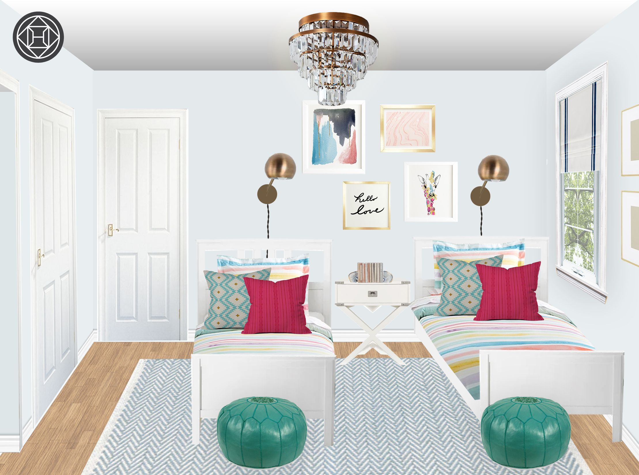 Glam, Preppy Bedroom Design by Havenly Interior Designer ...