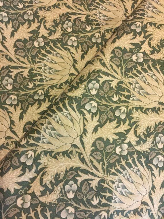 William Morris Apprentice Floral Artichoke Fennel By PinkysCotton
