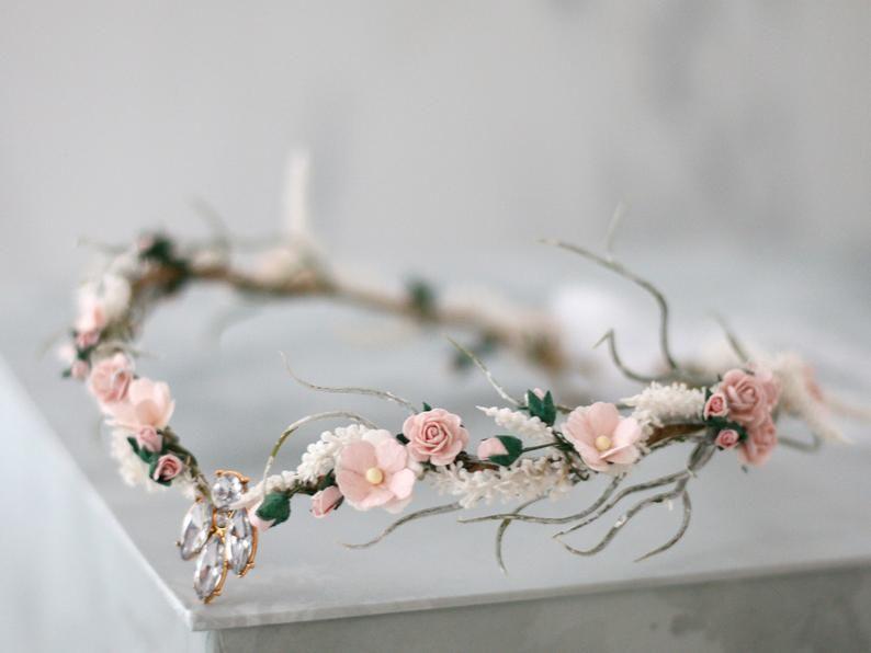 Elven tiara, elf leaf crown, woodland tiara, fairy crown, elf headpiece, elvish tiara, elven diadem