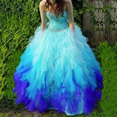 41dde5f4c7 Sweetheart Ball Gown Long Tulle Quinceanera Dress Prom Gown BG02 from  Fancygirldress