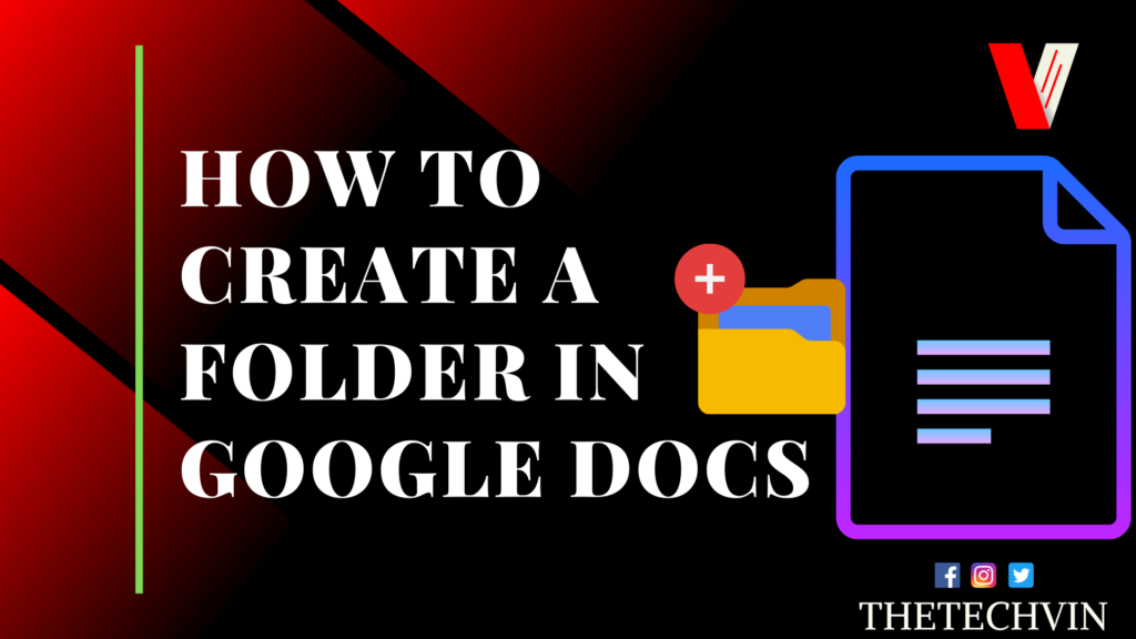 How To Create A Folder In Google Docs 2 Easy Ways The Techvin In 2020 Google Docs Folders Google Drive App