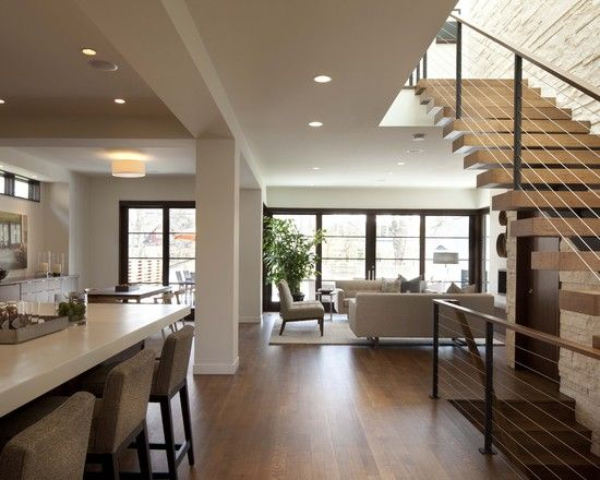 Contemporary Open Floor Plan Design Pictures Remodel