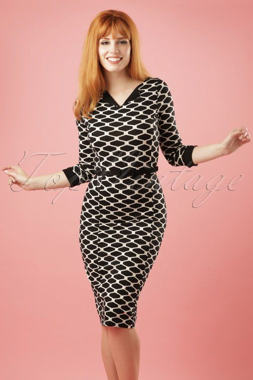King Louie ~ 60s Audrey Maya Dress in Black