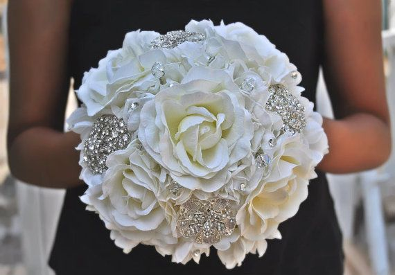 FULL PRICE Not A Deposit Jeweled Crystal Rose Bouquet By