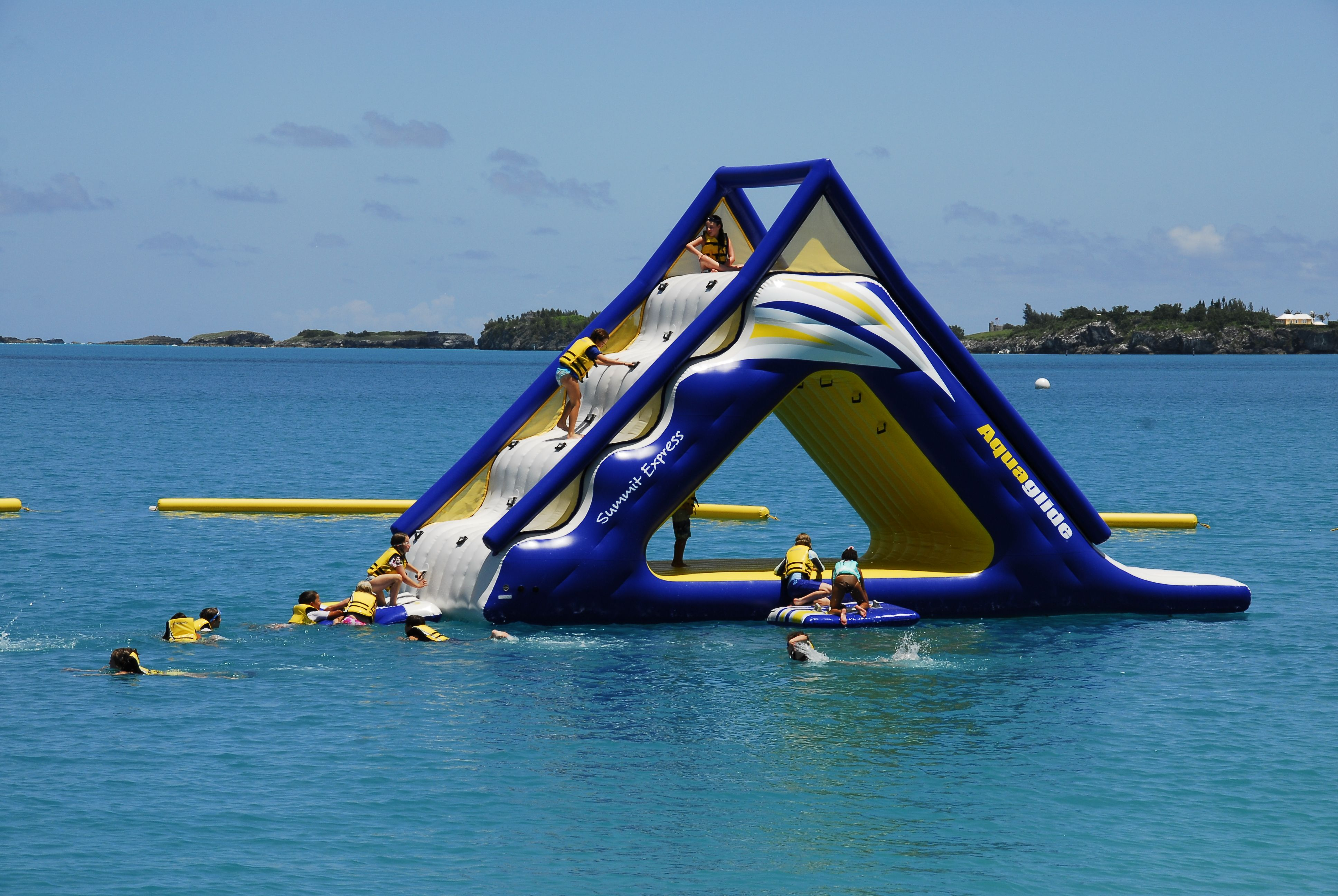 Water park slide. So much fun. Water sports activities