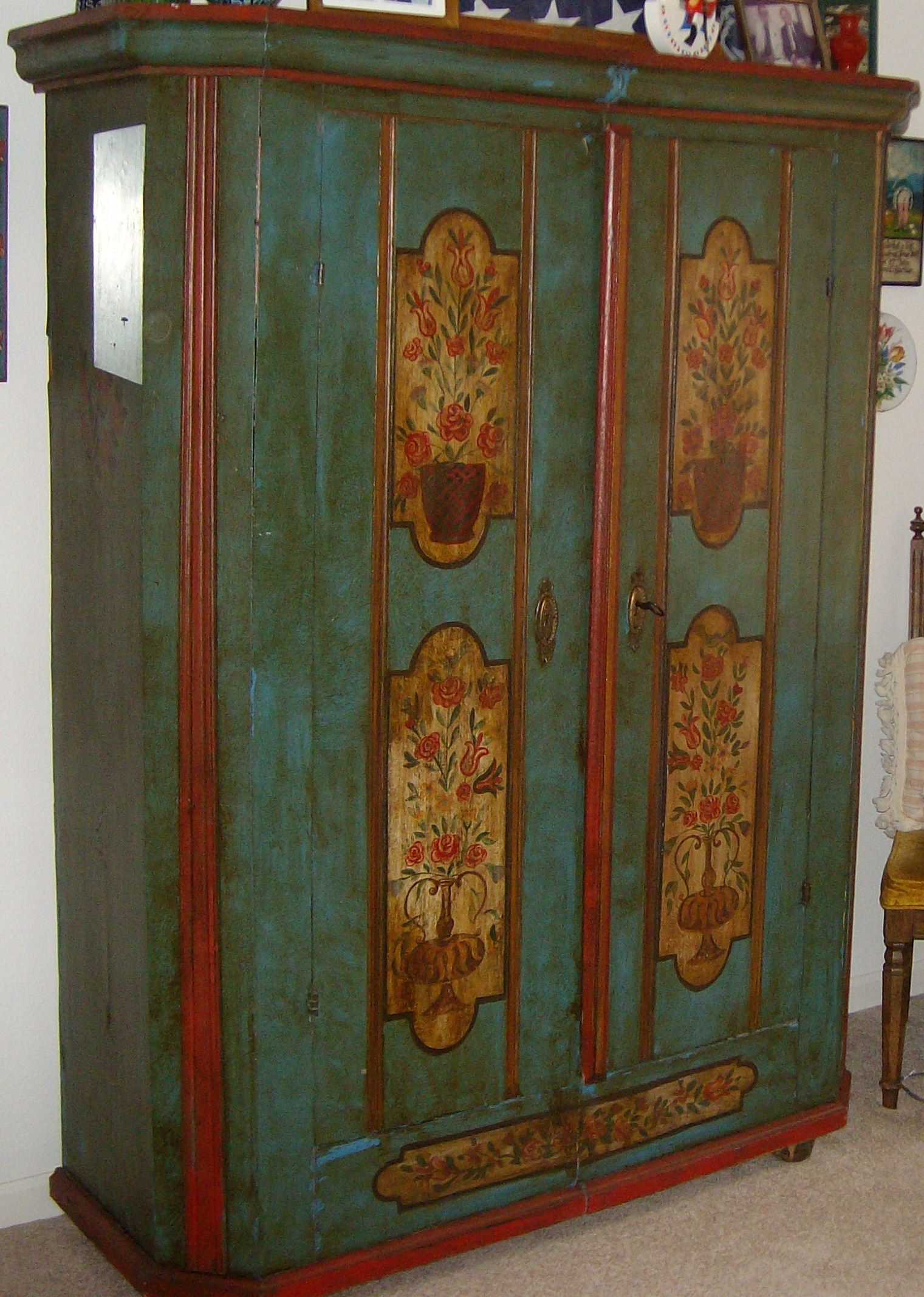 Bavarian Schrank Painting Antique Furniture Vintage Painted Furniture Furniture Restoration