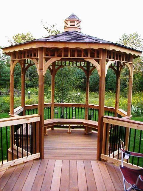 Gabezo In Deck Ideas Ipe Deck With Open Gazebo Backyard Gazebo