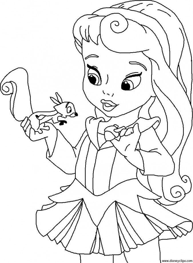 Dibujos para colorear de princesas bebs  Blancanieves  disney