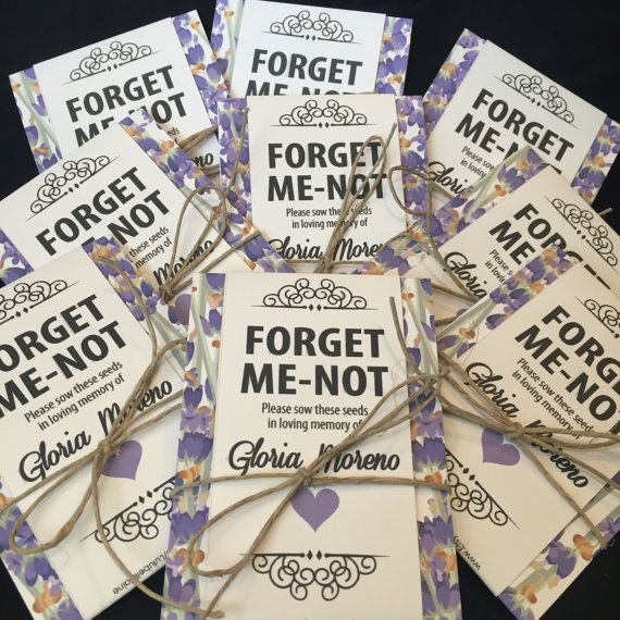 10 Forget Me Not Seed Packet Favours By Wedding In A: Personalized Memorial Forget-Me-Not Seed Packets In