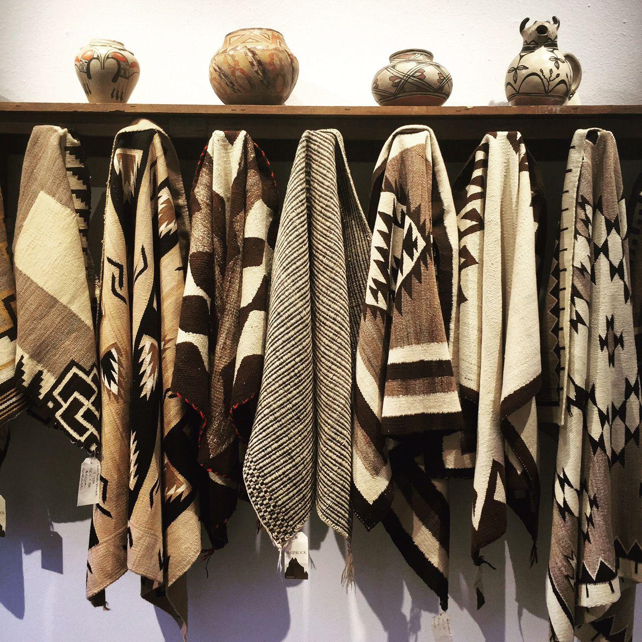 Native American Rugs In Santa Fe: Pueblo Pots And Navajo Natural Hued Textiles At Shiprock