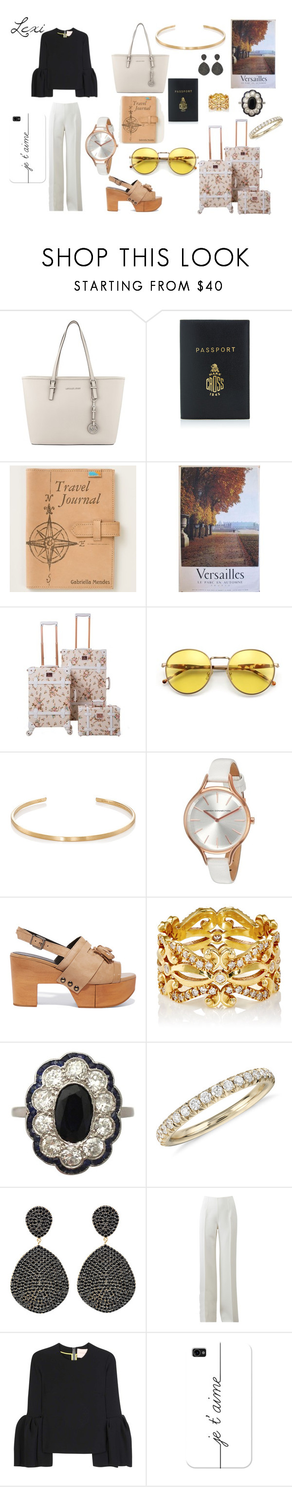 """""""VERSAILLES OUTFIT"""" by lexiperez599 ❤ liked on Polyvore featuring MICHAEL Michael Kors, Mark Cross, Wildfox, Le Gramme, French Connection, Robert Clergerie, Sara Weinstock, Blue Nile, Latelita and Michael Kors"""