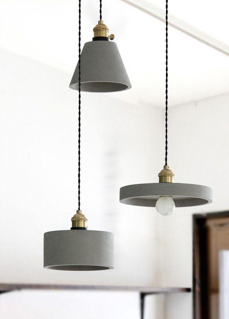 Concrete Vasa Minimalist Pendant Light #pendantlighting