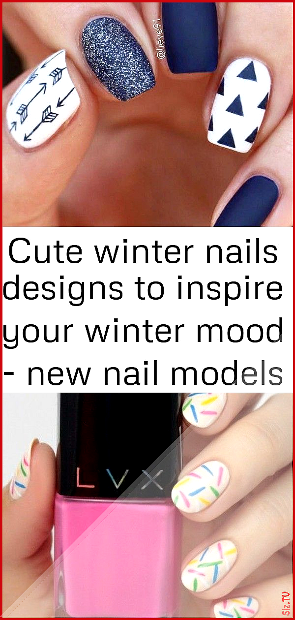 Cute winter nails designs to inspire your winter mood  new nail models 2 Cute winter nails designs