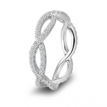 Infinity Wedding Band...would go really nice with the infinity engagement ring style:)