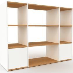 Photo of Regalsystem Weiß – Flexibles Regalsystem: Türen in Weiß – Hochwertige Materialien – 154 x 118 x 47 c