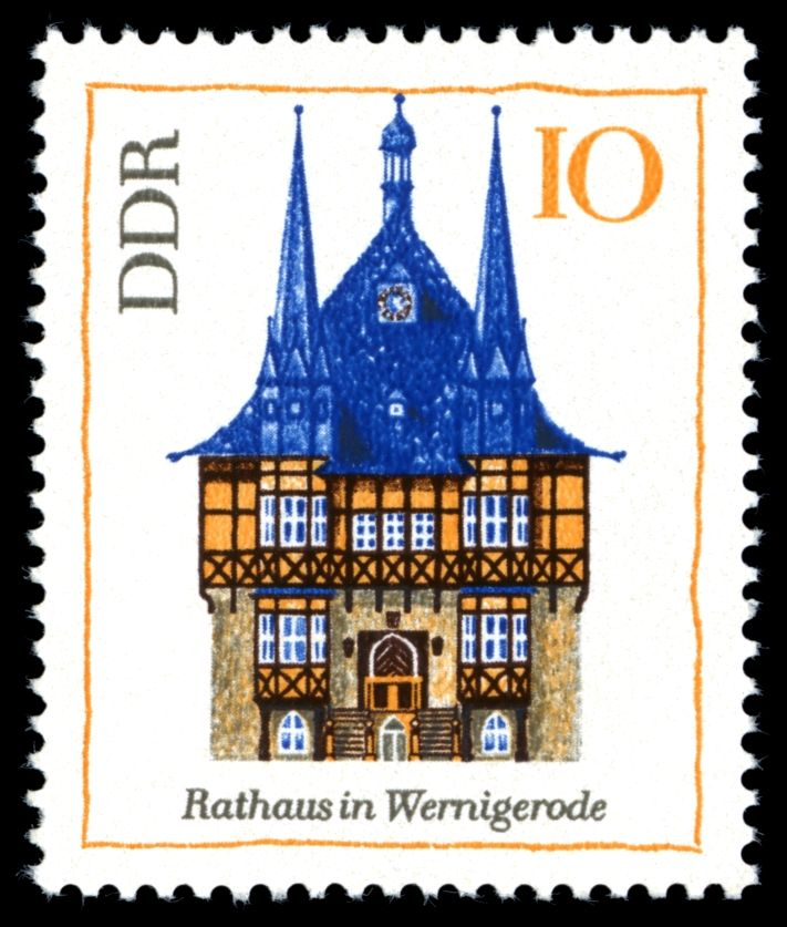 Stamps of Germany (DDR) 1968, Briefmarke Rathaus in