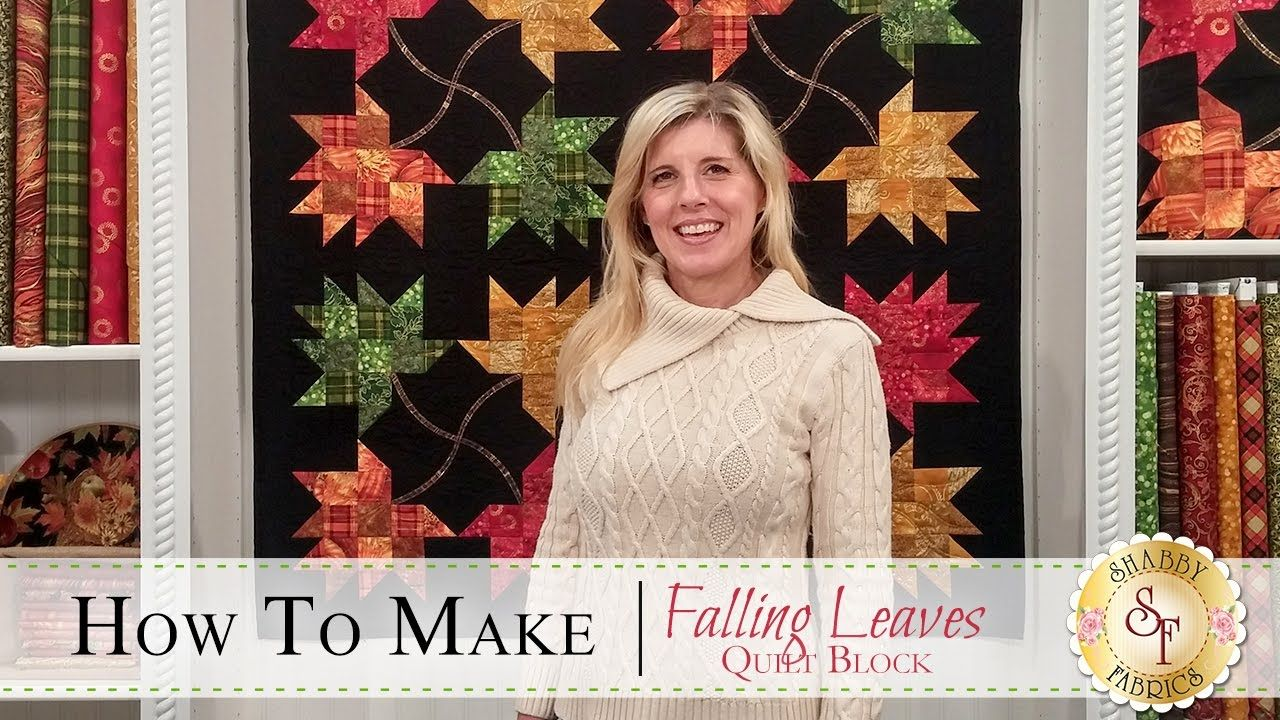 How to Make the Falling Leaves Quilt Block with Jennifer