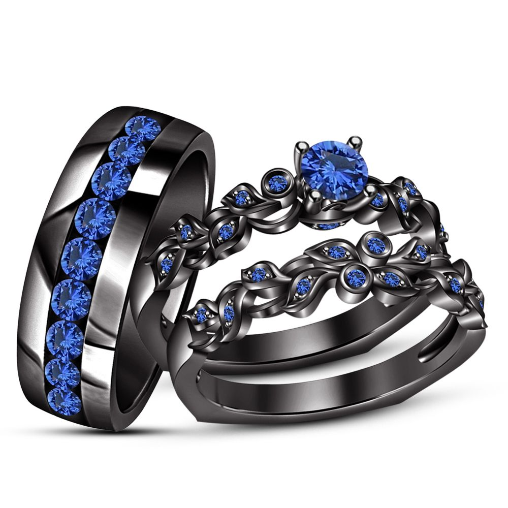 19++ Sapphire engagement wedding ring sets ideas in 2021