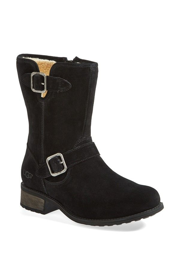 Womens Boots UGG Moto Black Suede