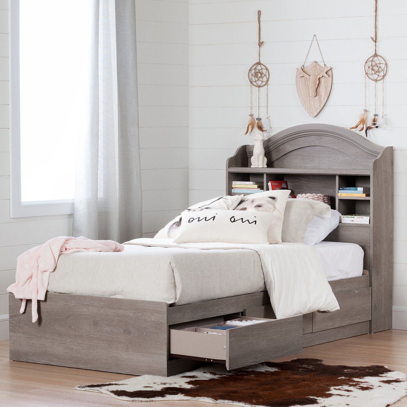 Savannah Mate's & Captain's Twin Bed with 3 Drawers Twin